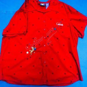 Disney Button Down Celebrate Tigger Shirt